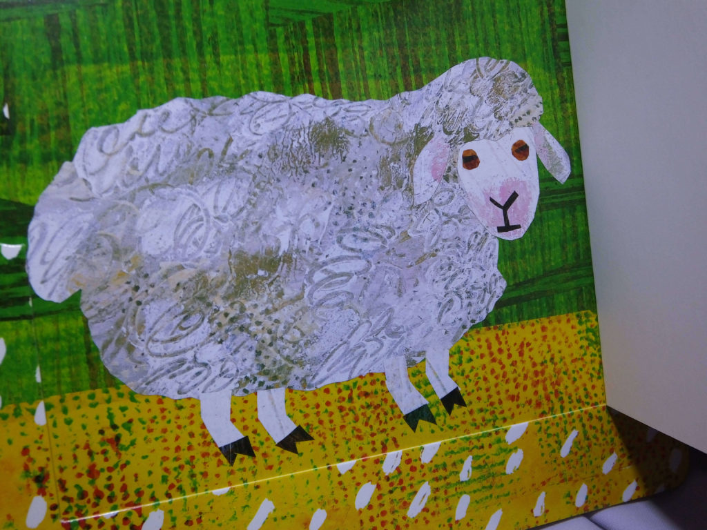 """E. Carle """"Śnieżne marzenie"""", owca"""