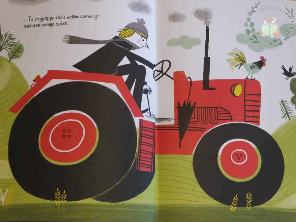 """""""Tata już biegnie"""" Czerwony traktor"""
