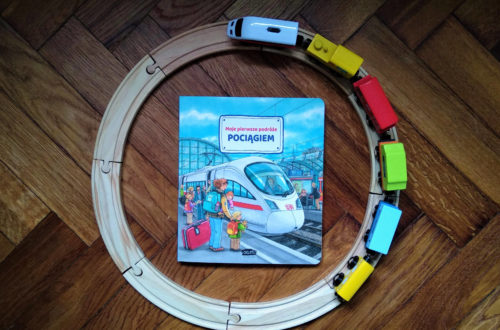 """""""Moje pierwsze podróże pociągiem"""" okładka"""