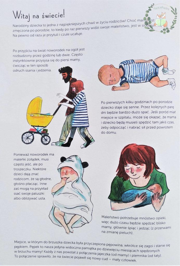"""""""9 miesięcy. Od zarodka do noworodka! Przewodnik po ciąży dla całej rodziny"""" Courtney Adamo i Esther van de Paal - witaj na świecie"""